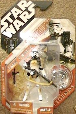 Star Wars Escape from Mos Eisley Sandtrooper Figure (Grey - Japan Card)