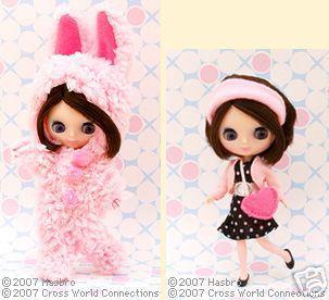 Takara Petite Mini Blythe Doll KPBL-14 Honey Bunny Encore.