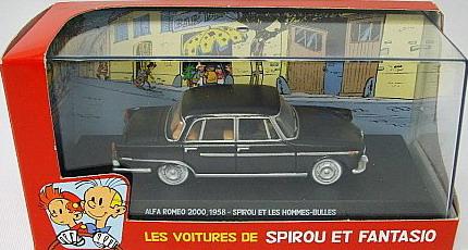 The cars of Spirou and Fantasio - Alfa Romeo 2000