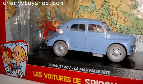 The cars of Spirou and Fantasio -  Renault 4CV