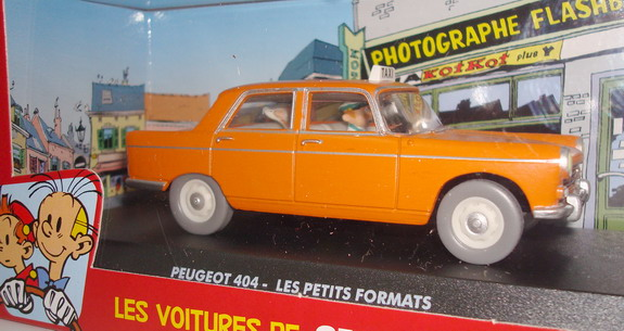 The cars of Spirou and Fantasio -  Peugeot 404