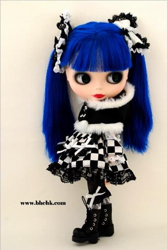 """ชุดตุ๊กตา 12\""""  BHC-FN355 Magic Square Gothic Dress Set"""