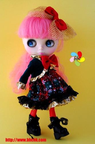 """ชุดตุ๊กตา 12\""""  BHC-FN303 Thanks Giving Dress Set"""