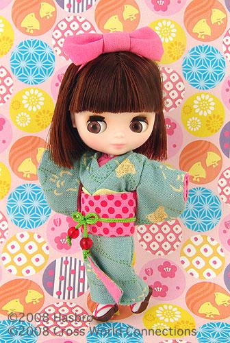 Petite Blythe Suzume no Uta Kimono