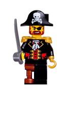 Lego Pirates Figure Captain Pirate