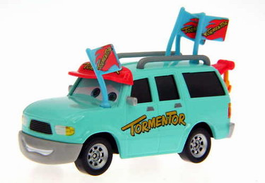 Disney Cars Toon - tormentor with flag (LOOSE)