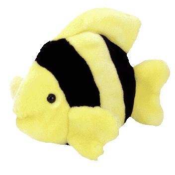 TY Beanie Buddy - BUBBLES the Fish (10 inch)