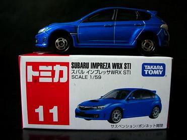 Tomy No11 Subaru Impreza WRX STI