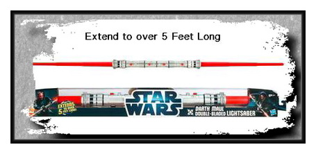 STAR WARS DARTH MAUL DOUBLE-BLADED LIGHTSABER