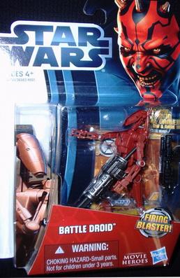 STAR WARS Movie Heroes BATTLE DROID Figure