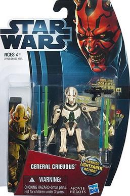 STAR WARS Movie Heroes GENERAL GRIEVOUS Figure