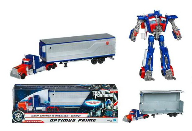 TRANSFORMERS Deluxe Class Movie Trilogy Series OPTIMUS PRIME Figure with Trailer