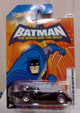 Hot Wheels 2012 Walmart Exclusive Batman series 02/08 BATMAN: THE BRAVE AND THE BOLD BATMOBILE new