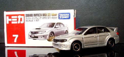 Tomy No 7  Subaru Imprerza WRX STI 4door