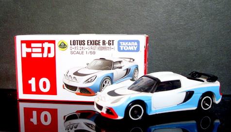 Tomy No10 Lotus EXIGE R-GT  First color edition