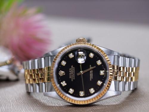 Rolex Datejust 16233 ดำเพชร
