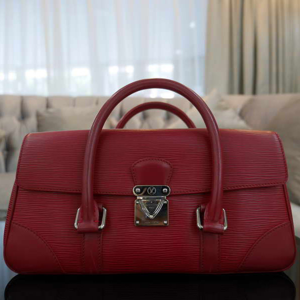 louis vuitton red handbag