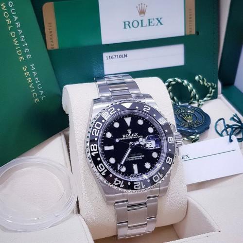 Rolex GMT Master II 116710LN เข็มเขียว