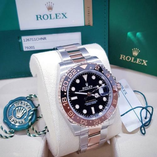 Rolex Sport 126711CHNR GMT-MASTER ll ROOTBEER 2 กษัตริย์ มีใบกล่อง อุปกรณ์ครบๆ รุ่นใหม่ล่าสุด