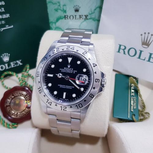 Rolex Sport 16570 EXPLORER ll Size 40 min หน้าดำ เข็มแดง มีใบศูนย์ ปี 2003