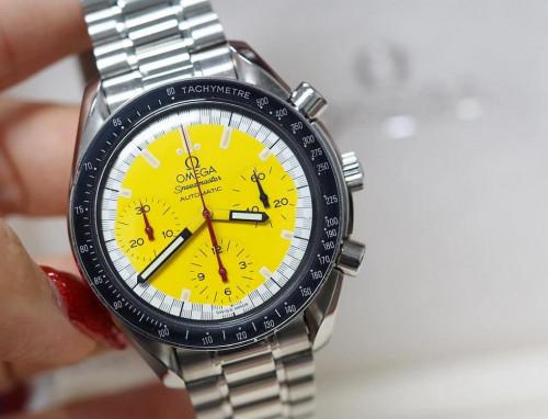 Omega Speedmaster Automatic Chronograph MICHAEL SCHUMACHER Yellow Dial