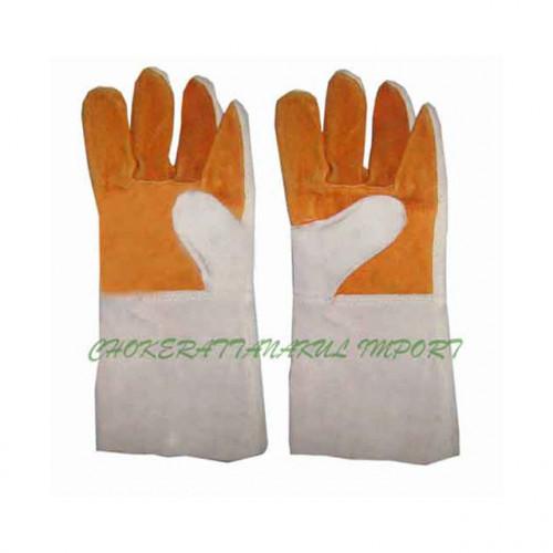 ถุงมือช่างหนังท้อง 2 สี(ยาว)