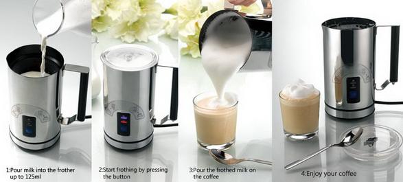 เครื่องทำฟองนมแบบอัตโนมัติ สะดวก ฟองนมเนียนสวย ใช้งานง่าย ทำได้ทั้งฟองนมร้อน ฟองนมเย็น และ อุ่นนม