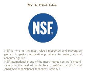 โคเวย์เป็นผู้ผลิตเครื่องกรองน้ำแห่งแรกในเอเชียที่ได้รับประกาศนียบัตรรับรองคุณภาพ NSF