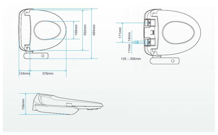 ฝารองนั่งพร้อมที่ฉีดชำระล้างแบบธรรมดาโคเวย์รุ่น BA-12 Toilet Seat Bidet Manual 1