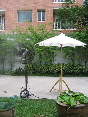 เช่าพัดลมไอน้ำระบบเดินสาย ให้เช่าพัดลมไอน้ำ พร้อมเดินระบบ 1