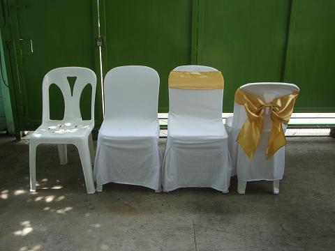 เช่าเก้าอี้ พลาสติกสีขาว คลุมผ้า - ไม่คลุมผ้า ให้เช่าเก้าอี้พลาสติก 15