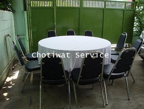 เช่าโต๊ะจีน เก้าอี้เบาะนวมไม่คลุมผ้า ให้เช่าโต๊ะจีน 2