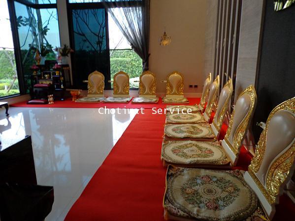 ให้เช่าชุดโต๊ะหมู่บูชา เช่าอาสนะสงฆ์ จัดเป็นชุด