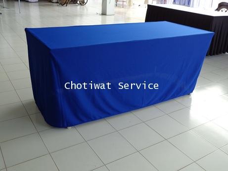 ให้เช่าโต๊ะ ให้เช่าแบบคลุมผ้า ติดสเกิร์ต 13