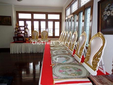 ให้เช่าชุดโต๊ะหมู่บูชา เช่าอาสนะสงฆ์ จัดเป็นชุด 1