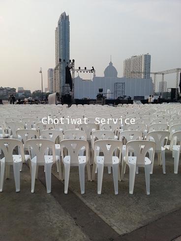 เช่าเก้าอี้ พลาสติกสีขาว คลุมผ้า - ไม่คลุมผ้า ให้เช่าเก้าอี้พลาสติก 13