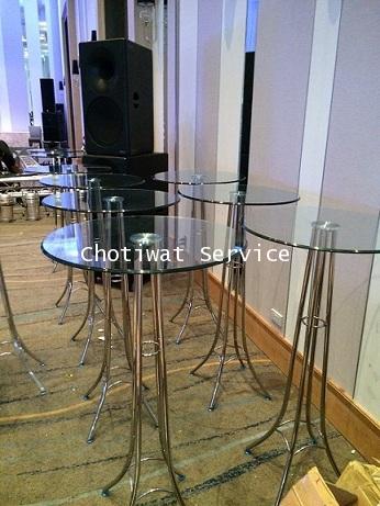 เช่าโต๊ะบาร์กระจก เช่าโต๊ะบาร์ทรงสูง 1
