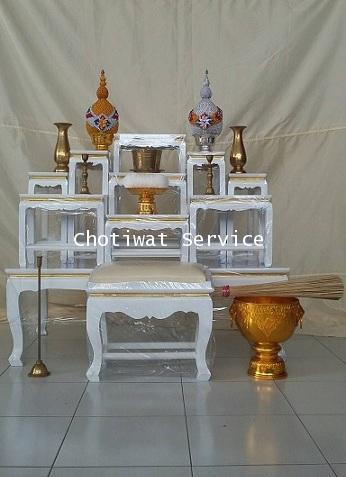 ให้เช่าโต๊ะหมู่บูชา พร้อมอุปกรณ์ 7