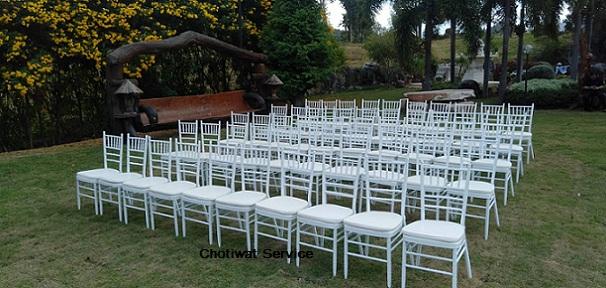 ให้เช่าเก้าอี้ชิวารี เช่าเก้าอี้ ชิวารีสีขาว