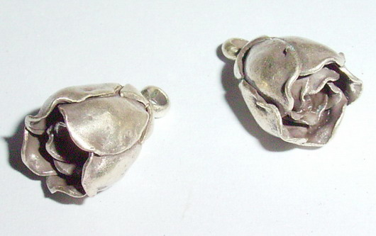จี้รูปดอกไม้ A FL 5021/จี้เงินกะเหรี่ยงรูปดอกไม้