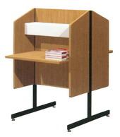S-38 โต๊ะอ่านหนังสึอห้องสมุด บุคคล2หน้า