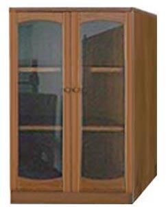 ตู้เก็บหนังสือไม้ S-59/ตู้กระจกบานเปิด