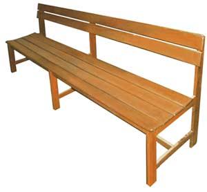 S-43 เก้าอี้พักคอย / ม้านั่งไม้