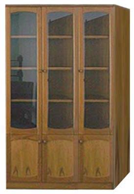 ตู้เก็บหนังสือไม้ บานเปิด 3 บาน สูง180 ซม. S-62