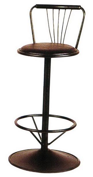 เก้าอี้บาร์เหล็กมีพนักพิง/เก้าอี้บาร์เหล็กมีหลังพิง_BCD-19