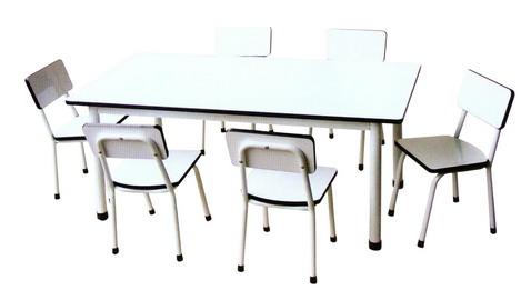 S-85, ชุดโต๊ะและเก้าอี้นักเรียนอนุบาล 6 ที่นั่ง