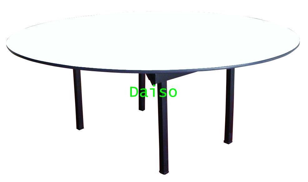 โต๊ะจัดเลี้ยงกลมพับได้ R-6-TB,