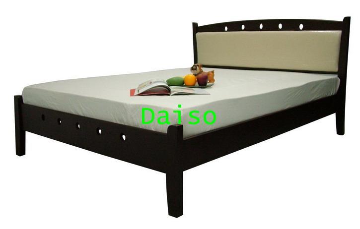 DS Rubber wood Bed-6, เตียงไม้ยางพารา