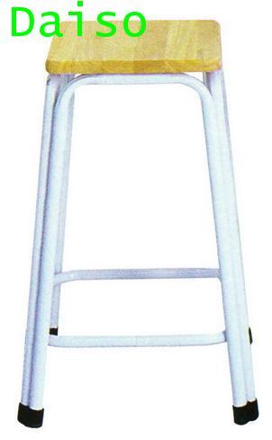 เก้าอี้เหล็ก ที่นั่งไม้ยางพารา CD-143/เก้าอี้เหล็กรุ่นสูง