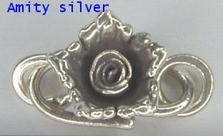 ตะขอเงินรูปดอกกุหลาบ CL_A FL 5018